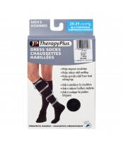Therapy Plus Men's Dress Socks Black Large