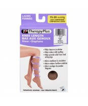 Therapy Plus Nude Knee Length Light Compression Therapeutic Legwear For Women Medium