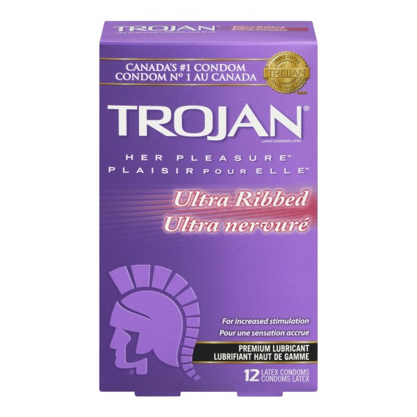 Buy Trojan Her Pleasure Ultra Ribbed In Canada Free Shipping