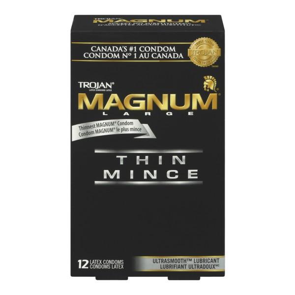 Thin magnum condoms