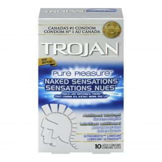 Trojan Pure Pleasure Naked Sensations Lubricated Latex Condoms