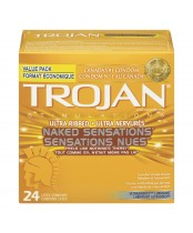 Trojan Ultra Ribbed Naked Sensations