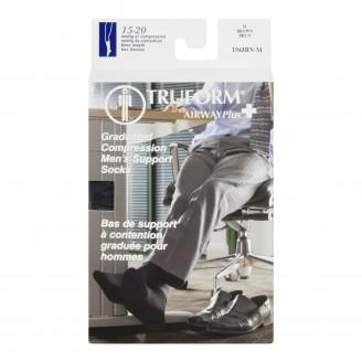 Truform Airway Plus Men's Graduated Compression Dress Support Socks