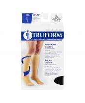 Truform Ladies Below Knee Stocking Black Large
