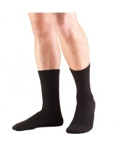 Truform Medical Compression Socks for Men and Women, Black, Large