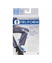 Truform Mens Black Dress Socks LG
