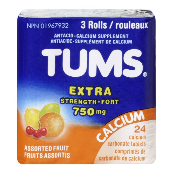 Buy Tums Antacid Calcium Supplement Chewable Tablets In Canada