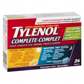 Tylenol Complete Cold, Cough & Flu Day and Night Caplets