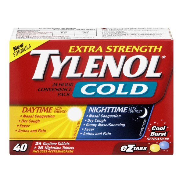 Buy Tylenol Extra Strength Cold Daytime Nighttime
