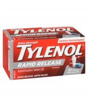 Tylenol Extra Strength , Rapid Release Pain Reliever (80 Gelcaps)