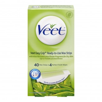 Veet EasyGrip Ready-To-Use Wax Strips for Legs