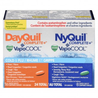 Vicks DayQuil and Nyquil Complete VapoCool Cold & Flu