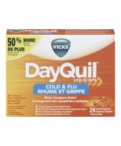 Vicks DayQuil Cold & Flu Multi Symptom Relief Liquicaps