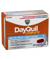 Vicks DayQuil Complete Cold and Flu Liquid Capsules