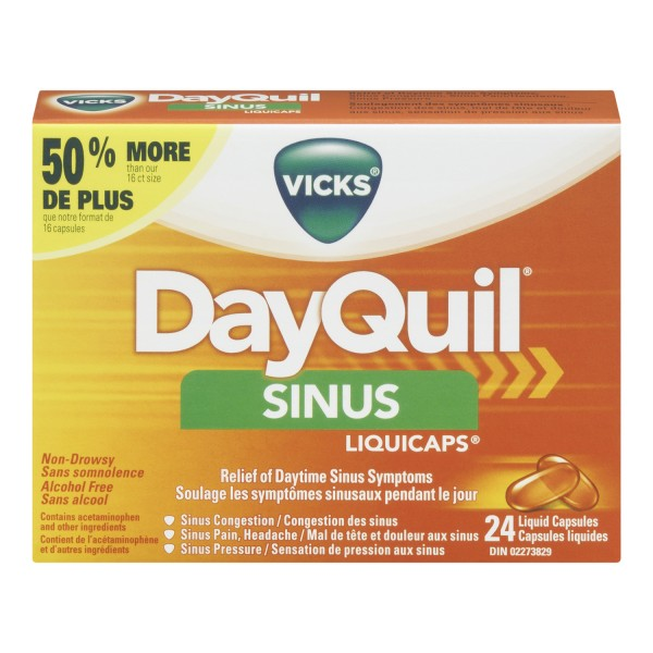 Buy Vicks Dayquil Sinus Liquicaps In Canada Free