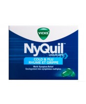 Vicks Nyquil Cold and Flu Liquid Capsules - 24's