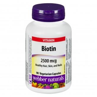 Webber Naturals Biotin 2500mcg