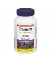 Webber Naturals Cranberry 36:1 Concentrate Capsules