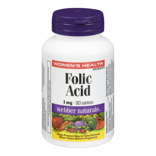 Buy Webber Naturals Folic Acid In Canada Free Shipping