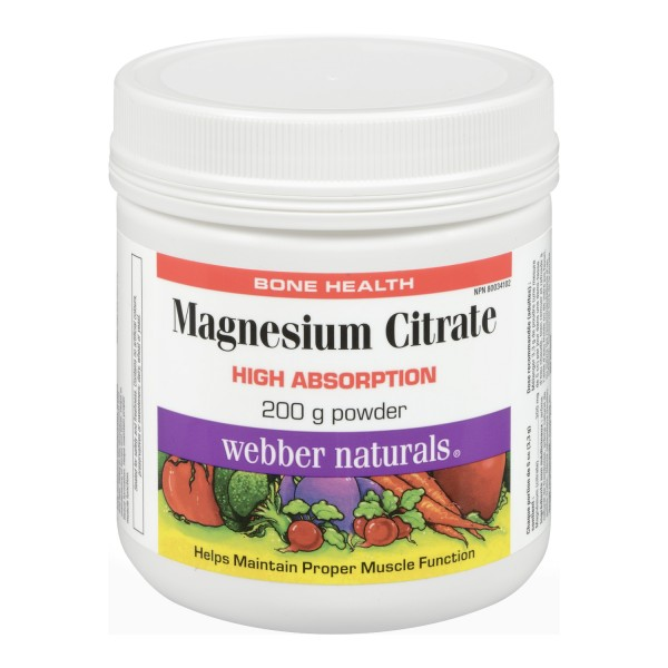 Buy webber naturals magnesium citrate powder in canada free shipping