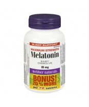 Webber Naturals Maximum Strength Melatonin Bonus Size