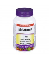 Webber Naturals Melatonin Sleep Support Sublingual Tablets