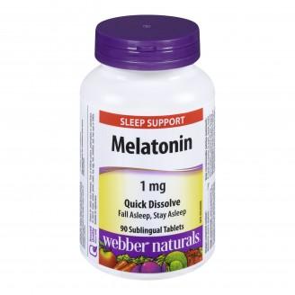 Webber Naturals Melatonin Sleep Support Sublingual Tablets