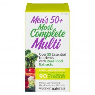 Webber Naturals Men's 50+ Most Complete Multi