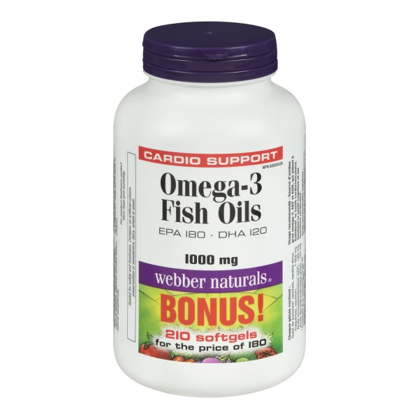 Buy webber naturals omega 3 salmon fish oils in canada for Fish rich in omega 3