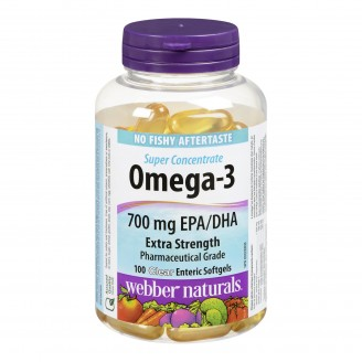 Webber Naturals Omega-3 Super Concentrate Clear Enteric Softgels