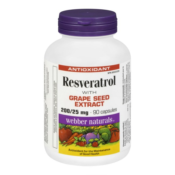 Buy webber naturals resveratrol with grape seed extract in canada