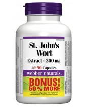 Webber Naturals St. John's Wort Extract Capsules Bonus Size