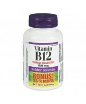 Webber Naturals Vitamin B12 Bonus Pack