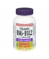 Webber Naturals Vitamin B6, B12 and Folic Acid Bonus Pack