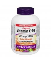 Webber Naturals Vitamin C + D3 Chewable Tablets
