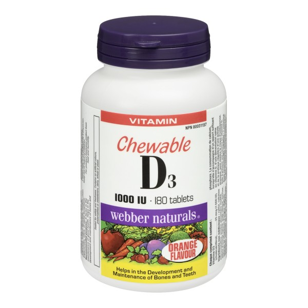 Buy Webber Naturals Vitamin D3 Chewable Tablets In Canada