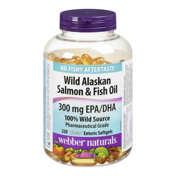 Buy webber naturals wild alaskan salmon fish oil clear for Salmon fish oil
