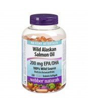 Webber Naturals Wild Alaskan Salmon Oil Clear Enteric Softgels