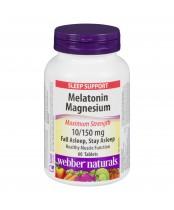 Webbers Naturals Melatonin Magnesium Maximum Strength Tablets