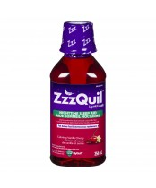 ZzzQuil Liquid NightTime Sleep-Aid, Calming Vanilla Cherry 354mL