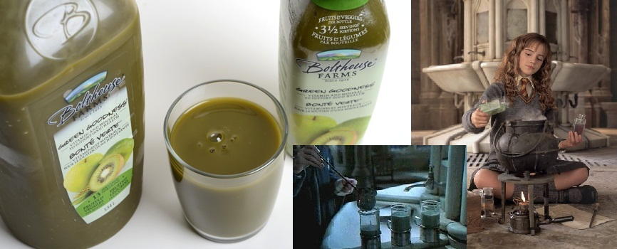 Those sweet, sweet Bolthouse Farm kiwi juices may look like Polyjuice Potion, but the only thing that can taste like Hermione's concoction is the putrid combination of minty toothpaste and orange juice.