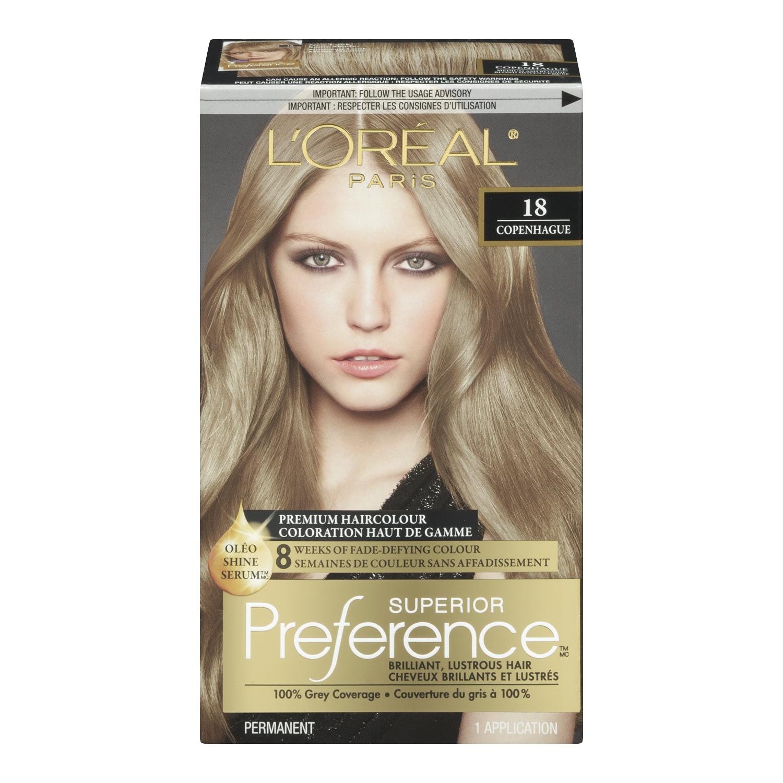 Loreal Preference Medium Ash Blonde Dark Brown Hairs