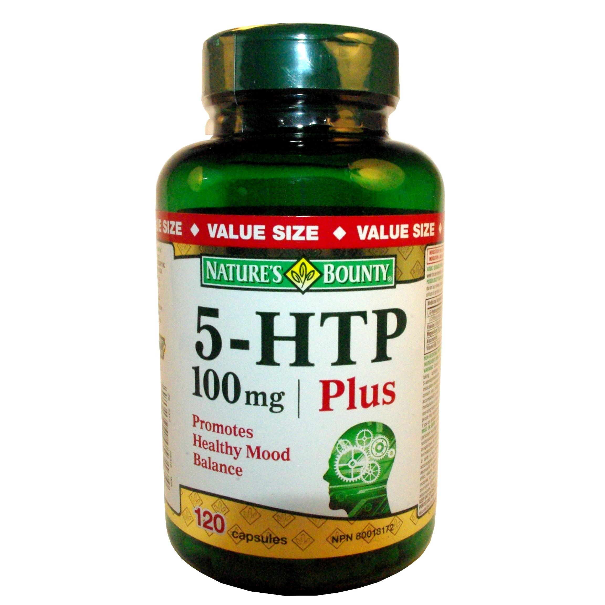 Nature's Bounty 5-HTP, 100 mg, 120 Capsules
