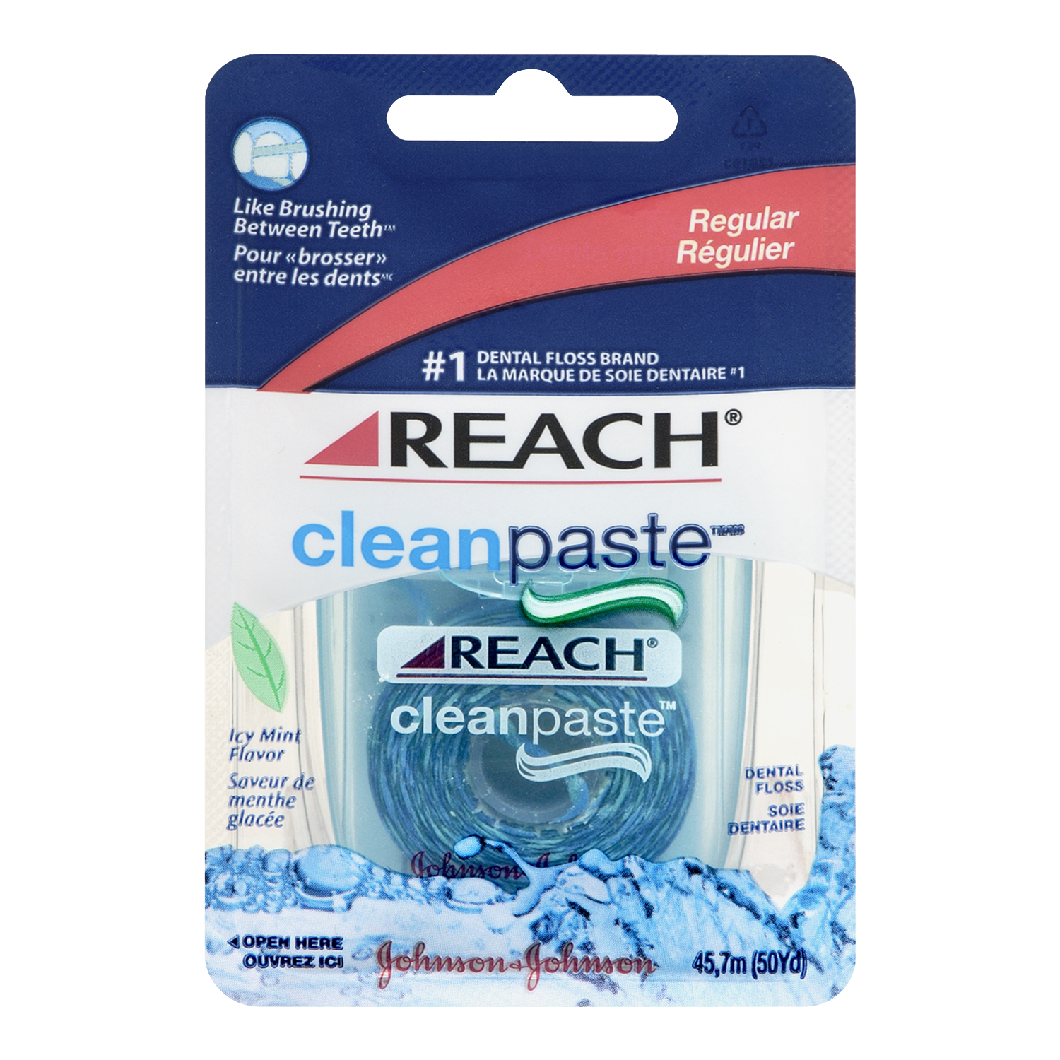 Reach Clean Paste Dental Floss, Regular, Icy Mint Flavour