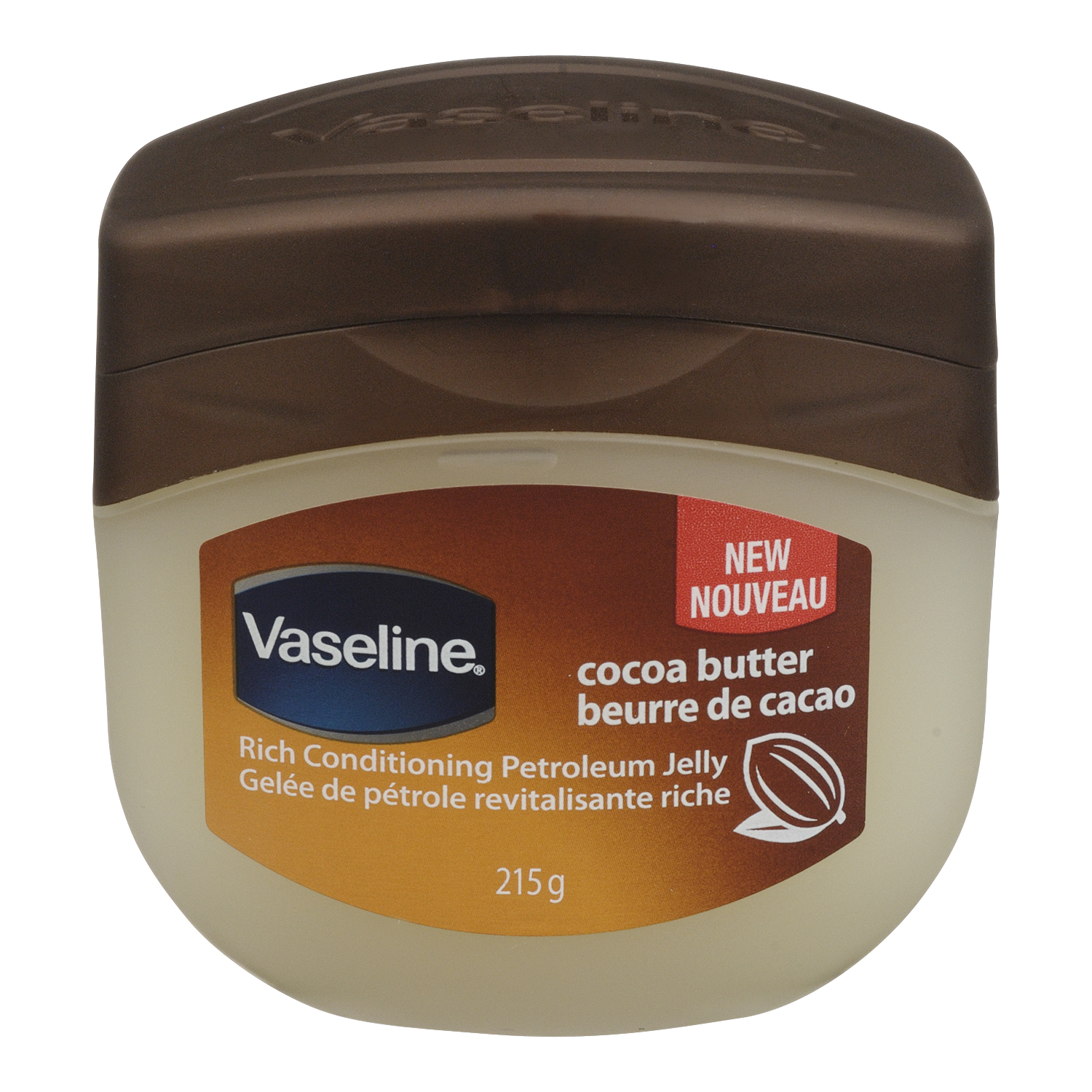 Vaseline Rich Conditioning Petroleum Jelly, Cocoa Butter, 215 g