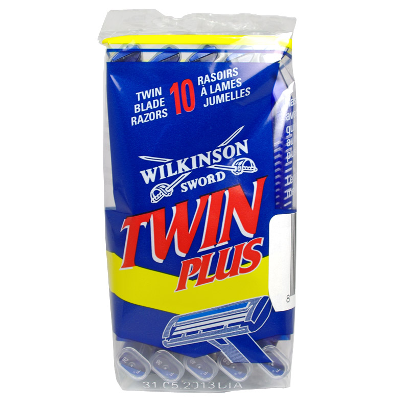 Wilkinson Sword Twin Plus Disposable Razors, 2 Blades